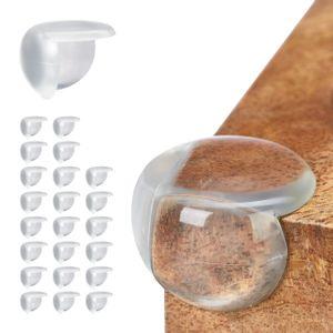 relaxdays 24 x Eckenschutz Baby, Kantenschutz transparent, Eckschutz Tischeckenschutz Set