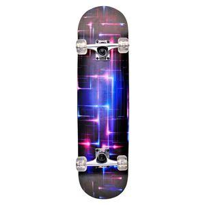 Unibest Skateboard Funboard komplett 80x20cm Ahornholz Motiv pink Starlight