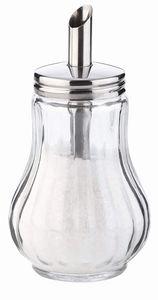 12 x Zuckerstreuer aus Glas Vintage ca. 200 ml - Zuckerdose Zuckerschale