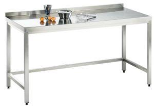 Arbeitstisch, 2400x600x850mm, voll aus Edelstahl 1.4301