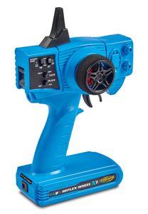 Carson RC FS Reflex X2 2 Kanal 2.4GHz Sender + Empfänger Set Pistolensteuerung Blue Version