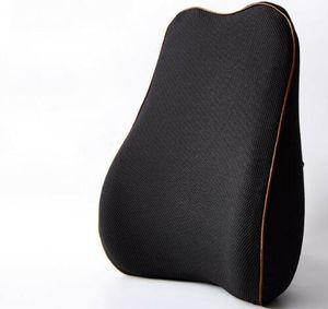 Orthopädisches Rückenkissen Aus Memoryschaum Lendenkissen Rückenstütze Schwarz