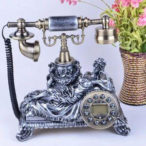 Meco FSK/DTMF LCD Retro Festnetztelefon Nostalgie Haustelefon Tischtelefon