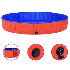 Hundepool Faltbar Rot 200x30 cm PVC