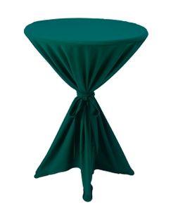 Premium Gastro Stehtisch Husse Tischhusse Bistrotisch Tisch Überwurf Tischdecke, Farbe:Grün, Größe:Ø 80-90cm
