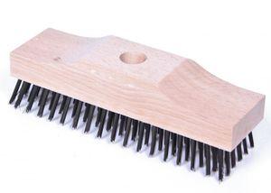 Drahtschrubber Drahtbürste Schrubber 6x18 reihig Stahlbürste Stahlschrubber Moosschrubber Grillschrubber