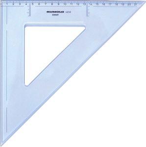 Rumold Zeichendreieck 45°, 32 cm, mm-Teilung, hochwertiger Kunststoff,