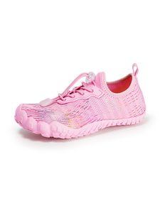 Rutschfeste Atmungsaktive Wassersportschuhe Für Kinder Tauchschnorchel-Watschuhe,Farbe: Pink,Größe:30