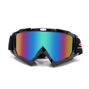 Crossbrille Skibrille Motocross Brille Sport Sonnenbrille Schneebrillen Black-green Film