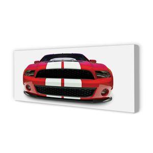 Leinwandbild 125x50 Wandkunst Red Sportwagen