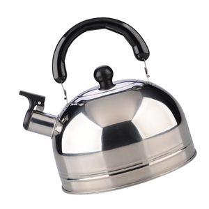 Wasserkessel Flötenkessel 2,5 Liter Pfeifkessel, leicht und tragbar Farbe Silber