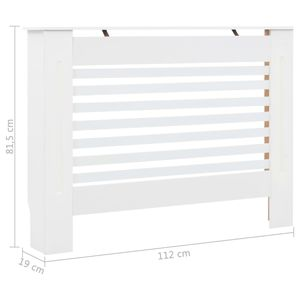vidaXL Heizkörperabdeckung Weiß 112×19×81,5 cm MDF