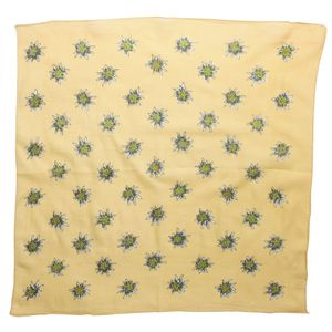 Bandana Tuch - Edelweiß groß 4cm - quadratisches Kopftuch lachsfarben
