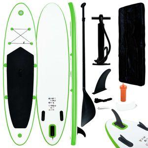 SIRUITON Aufblasbares Stand Up Paddle Board Set Grün und Weiß
