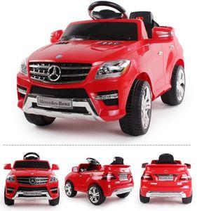 Mercedes-Benz QX ML 350 SUV ROT Kinderauto Kinderfahrzeug Kinder Elektroauto, mp3 Eingang, Sounds, Fernbedienung, Motorstartgeräusch
