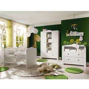 Babyzimmer Paris weiß matt 5 tlg. dunkle Griffe v EAN 4260498522712