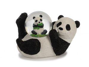 Glitzerkugel Panda 11 cm, Pandabär Schneekugel Tier Tiere Schneekugeln