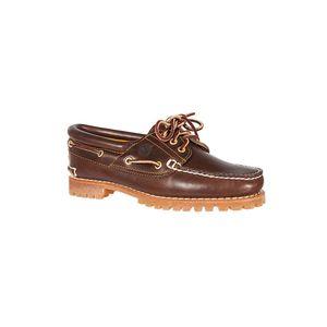 TIMBERLAND Echtleder Bootsschuhe 3 Eye Classic Lug Damen Braun Schuhe, Größe:38 1/2