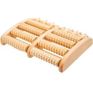 Fußmassageroller Holz für Fußmassage - perfekt für Zuhause & Büro - Fußroller gegen Fersensporn und Plantarfasziitis Fußmassageroller Holz zur Vorbeugung & Linderung