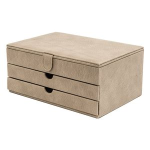 Schmuckkoffer aus Synthetik mit zwei Schubladen, verschiedene Farben