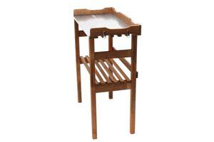 Pflanztisch 80x40x86cm Holz Tisch verzinkte Arbeitsplatte m. Ablagefach