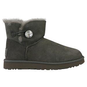 UGG Mini Bailey Button Bling Boot Stiefel Damen Grau (1016554 GREY) Größe: 38 EU