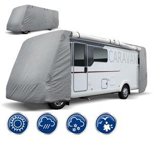 ECD Germany Schutzhülle für Wohnmobile - Größe M 610 x 235 x 275 cm - Atmungsaktive Integrierte Abdeckplane Ganzgarage Schutzhaube für Reisemobile Campingmobile Wohnwagen