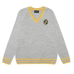 Harry Potter - Hufflepuff House Pullover für Damen PG1030 (S) (Grau)
