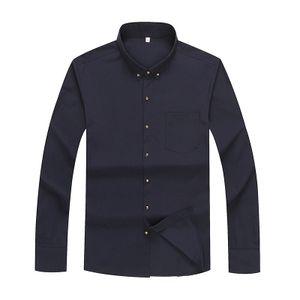 Plus Größe 10XL Männer s weißes Hemd Business Langarm-Shirt -(Blau,8XL)