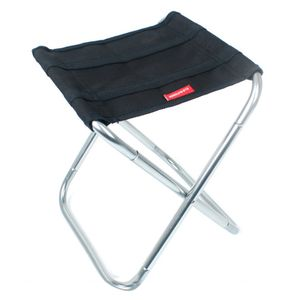 Mini Klappstuhl Sitzhocker Campingstuhl Klapphocker Falthocker Angelhocker CLS Outdoor Mini Klappstuhl-Schwarz 24.8x22.5x27cm