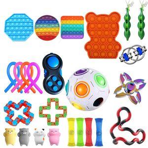 25 Stück Zappeln Sensorisches Spielzeug Fidget Toys Set, zum Stressabbau Anti-Angst Dekompressionsspielzeug
