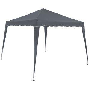 Pavillon 3x3m UV-Schutz 50+ wasserdicht faltbar inkl. Tasche Faltpavillon Capri Partyzelt Gartenpavillon Pop Up Zelt, Farbe:anthrazit