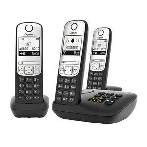 Gigaset A690 A Trio schwarz - Analog-Telefon - Anrufbeantworter Gigaset