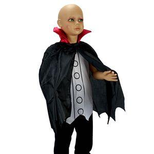 Halloween Kinder Vampir Kostüm (Shirt und Schwarzer Umhang) Größe: 110-116