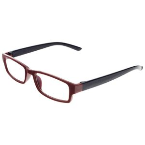 Unisex Lesebrille mit Stärke + 3,5 Dioptrien Lesehilfe Sehhilfe Kunststoff sehr robust für Damen und Herren in Rot