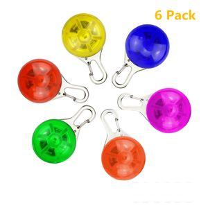 6 Pcs Sicherheits Clip-On LED Blinklicht Hunde LED Licht Leuchtanhänger Schlüsselanhänger Haustier Sicherheitslicht 3 Blinkmodis für Hund,Läufer,Jogger,Fahrradfahrer(Batterie inkl)