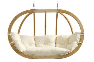 Amazonas Doppelhängesessel ohne Gestell Globo Royal Chair natura 176 x 118 x 72 cm; weiß, AZ-2030850