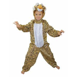 Kinder Plüsch Tigerkostüm (Overall mit Kapuze) Größe: 128