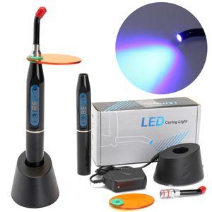 Zahnärztliche Polymerisationslampe Zahnarzt Dental LED Curing Light Lamp 1500mw 5W Teeth Whitening Light Schwarz