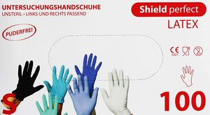 100 Stück Weiß Shild perfect LATEX 0002M M Einmalhandschuhe Puderfrei