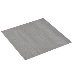 vidaXL PVC Laminat Dielen Selbstklebend 5,11 m² Grau Gepunktet