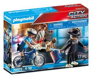 PLAYMOBIL 70573 Polizei-Fahrrad: Verfolgung des Taschendiebs
