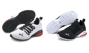 Puma AXELION Mesh Jr Unisex Fitnessschuhe Joggingschuhe Sneaker, Größe:UK 5 - EUR 38 - 24 cm, Farbe:Schwarz (Puma Black)