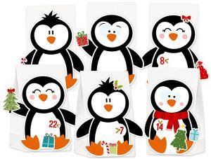 Adventskalender Pinguin zum Befüllen & Basteln