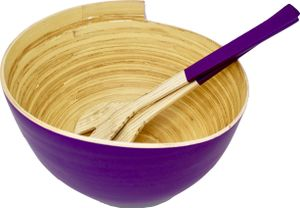 Kemar KitchenwareBambus Salatschüssel   mit Besteck Lavendel Lila