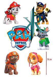 Paw patrol 6 Stuck - je.9cm Tortenaufleger,Geburtstag,Tortendeko