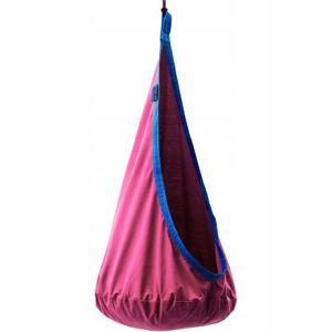 Potenza Milo Cocoon Hängehöhle für Kinder Hängesessel Kindersitz Kindershaukel mit Kissen 100% Baumwolle max 100kg Hängeschaukel