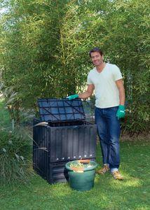 Eco King Komposter - 600 Liter - schwarz