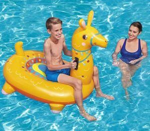 Bestway 41434, Mehrfarben, Gelb, Aufsitz-Schwimmer, Einfarbig, PVC, Junge/Mädchen, 45 kg