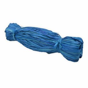 Creleo - Bast Raffia 50g blau Naturbast zum basteln